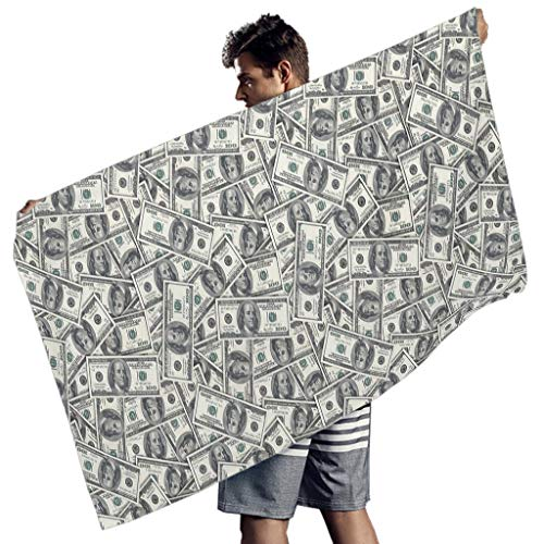 Ballbollbll Toallas de playa Dollar para gimnasio de toalla de piscina súper absorbente para hombres mujeres blanco 150x75 cm
