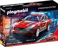 PLAYMOBIL Porsche 70277 Porsche Macan S Feuerwehr mit Licht- und Soundeffekten, Ab 4 Jahren