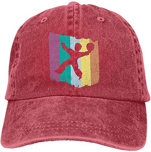 uytrgh Handball Retro Vintage Unisex Vintage Cotton Baseball Cap Snapback Dad Adjustable Denim Hats cowboy20535
