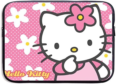 CHLING Hello Kitty with Flower Neoprene Laptop Sleeve Case Bag Cover Compatible 13 15 Inch Surface product image