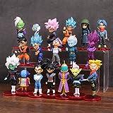 LOTE de 18 figuras de Dragon Ball DBZ DBS DB GT PVC personajes de Goku Vegeta Zamasu Trunks...