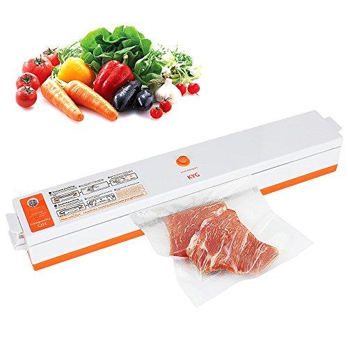 Envasadora al Vacío de Cocina 100W Selladora al Vacío Eléctrico para Conservación de Alimentos Máquina de Vacío de KYG, 15 Bolsas de Envasado Gratis