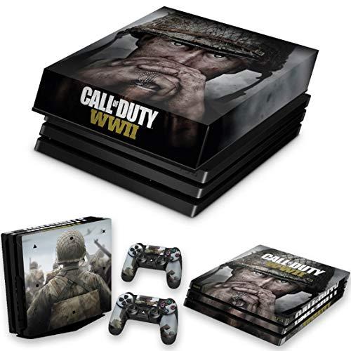 Capa Anti Poeira e Skin para PS4 Pro - Call Of Duty Ww2