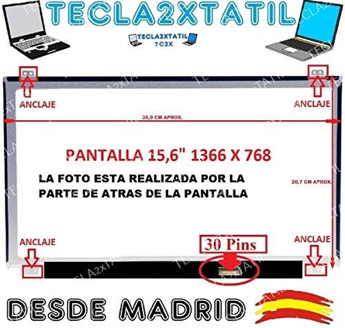 TECLA2XTATIL TC2X Pantalla Compatible para PORTATIL HP 15-Ay058ns 15,6' HD 1366...