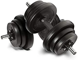 Anchor's Adjustable 20kg Dumbbells Weights set for Men Women, Dumbbell hand weight Barbell Perfect for Bodybuilding fitnes...