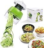 Spiralizzatore portatile per verdure, aggiornamento 4 in 1 regolabile a spirale, taglierina a spirale per pasta e spaghetti per frutta e verdura e cucina