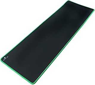 """Reflex Lab Large Extended Gaming Mouse Pad Mat XXL, Stitched Edges, Waterproof, Ultra Thick 5mm, Wide & Long Mousepad 36""""x12""""x.20"""" Green"""