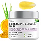 InstaNatural Exfoliating Glycolic Face Mask & Facial Scrub - Blackhead...