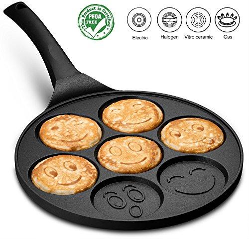 Gourmia GPA9540 Emoji Smiley Face Pancake Pan