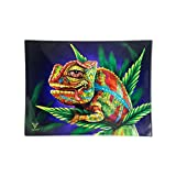 Glass Rolling Tray, Cloud 9 Chameleon Design by V Syndicate (Small)