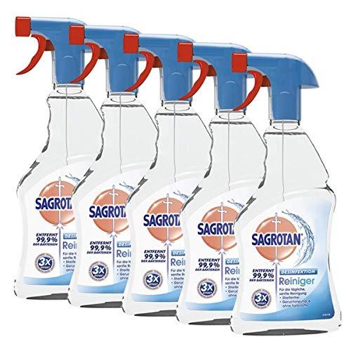 Sagrotan Limpiador desinfectante 500 ml – Elimina el 99,9% de las bacterias (5 unidades)