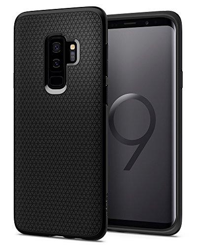 Spigen 593CS22920 Liquid Air für Samsung Galaxy S9 Plus Hülle, Stylisch Muster Design Handyhülle Schutzhülle Capsule Case Matte Black