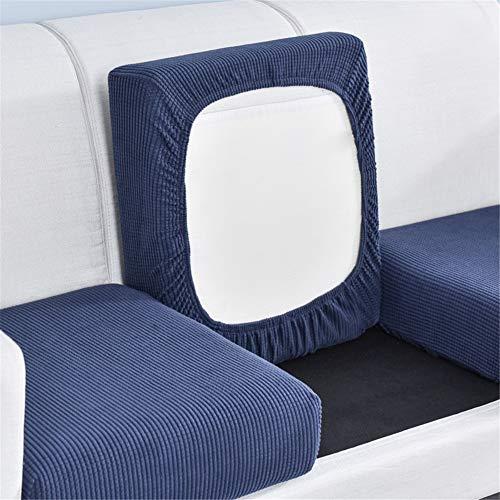 Funda de cojín elástica para sofá de color sólido, funda de sofá de cuatro estaciones universal para sofá individual y doble combinación (azul, 3)