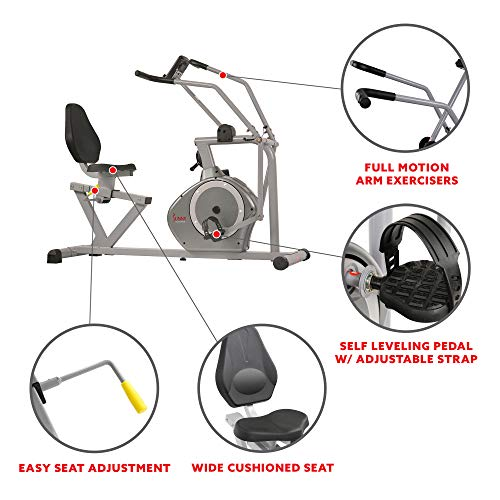 Magnetic Recumbent Exercise Bike By Sunny Health And Fitness