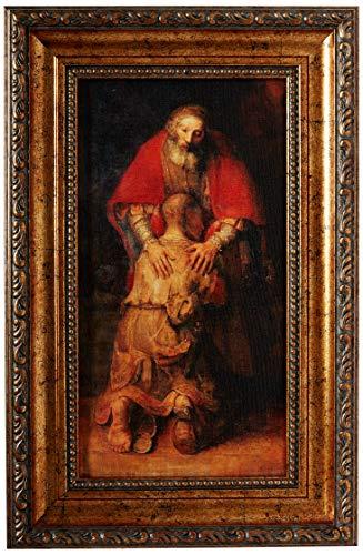 St Joseph Communications Rembrandt: Die Rückkehr des verlorenen Sohnes–Gerahmt Leinwand (inkl. Rahmen: 9,5x 14,5)