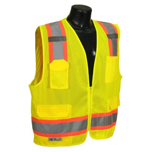 Radians SV6-2ZGM-S Two Tone Class 2 Surveyor Polyester Mesh Vests with Contrasting Trim by Radians
