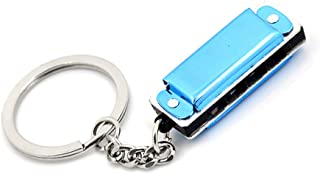 Mini Harmonica 8 Tone 4 Holes Harmonica Keychain Key, 3.6 x 1.2 x 0.8cm, Musical Instruments Gifts for Chirdren(blue)