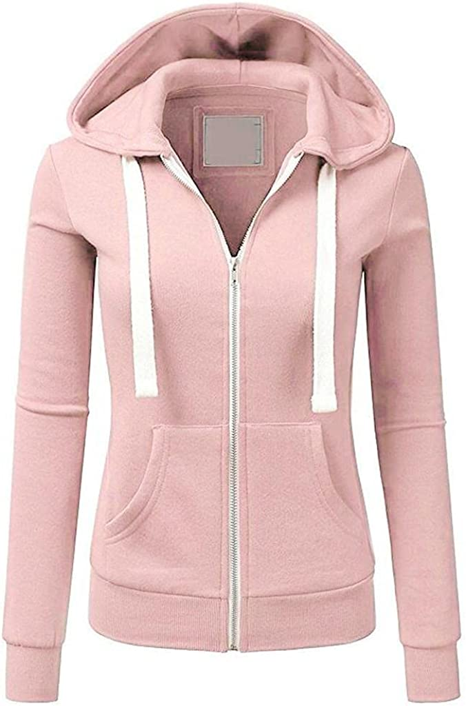 Womens Hooded Zipper Coats Classic Sleeve Solid C Regular Max 62% OFF discount Long Patchwork