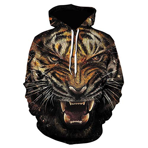 3D Sweater Pullovers/Hoodies Autumn and Winter Tiger Sweater 3D Printed Hoodie Fashion Jacket Men and Women Sweater Gift,XXL