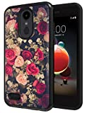 Flowers Case for LG Aristo 3 / Tribute Empire/Phoenix 4 / Aristo 2 / Tribute Dynasty/Fortune 2 / Zone 4 / Rebel 3 / Rebel 4 / Aristo 2 Plus / K8 2018, ANLI Floral Design Case for Girls and Women
