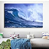 Geiqianjiumai Drucken Moderne Leinwand Malerei Ocean Wave