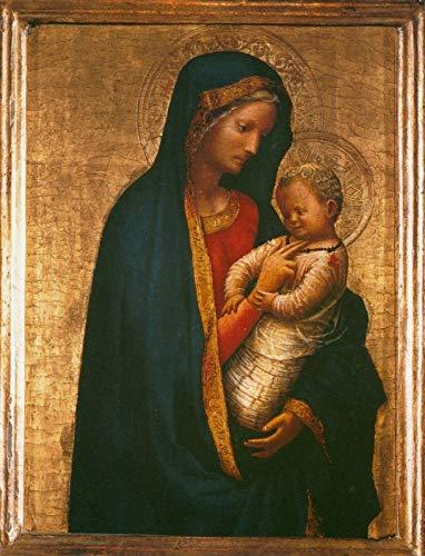 """Masaccio Madonna and Child ~ Madonna Casini 1426 Galleria Degli Uffizi 30"""" x 23"""" Fine Art Giclee Canvas Print (Unframed) Reproduction"""