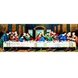 The Originall 5D DIY Diamond Painting by Number Kits, Full Drills Diamond Embroidery Crystal Rhinestone Cross Stitch The Last Supper Paintings Pictures Arts Craft for Home Wall Decor(60X30CM)