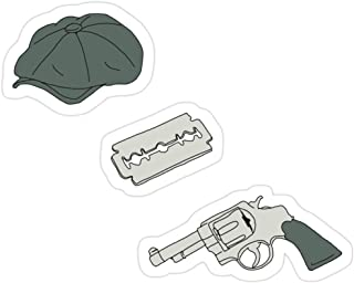 Story Storm Store Peaky Blinders Pattern Stickers (3 Pcs/Pack)