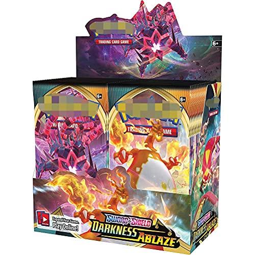 CZSMART 360 Paquets de Cartes Pokemon, Jeux de Cartes Pokemon pour Enfants, Booster Box Pokemon, Collection de Cartes rares Cadeau pour Enfants Fans dAnime (français)