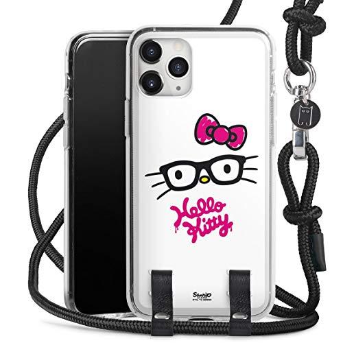 DeinDesign Carry Hülle kompatibel mit Apple iPhone 11 Pro Max Handykette Handyhülle zum Umhängen Hello Kitty Katze Offizielles Lizenzprodukt