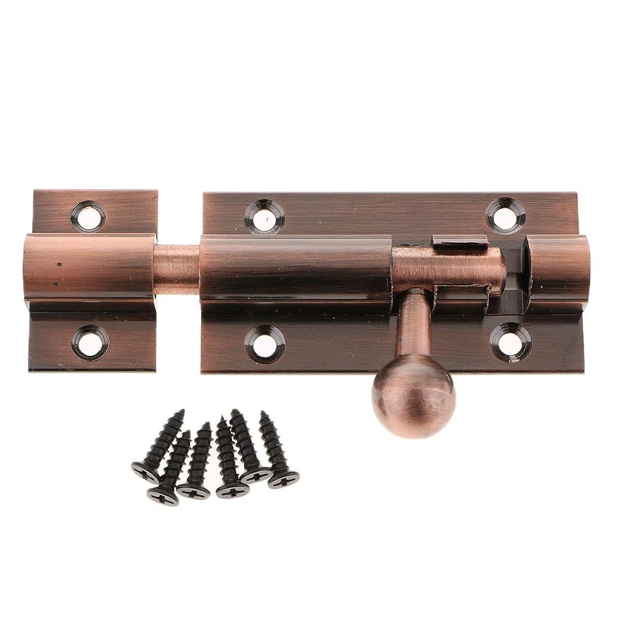 疑い者司令官導入するドアラッチ ドアスライドキャッチロック ボルトラッチバレル ホームゲートセキュリティ用 全6種 - 4インチ銅