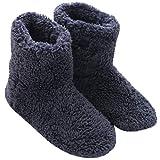 Mianshe 北欧 ルームシューズ もこもこ ルームブーツ 暖かい ボアスリッパ 男女兼用 (ブルー XXLサイズ 29.5cmくらいまで)