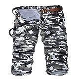Pantalones para Hombre Pantalones Casuales Monos Multibolsillos Pantalones Deportivos de Camuflaje Pantalones Militares para Exteriores para Acampar Senderismo Caminar 34