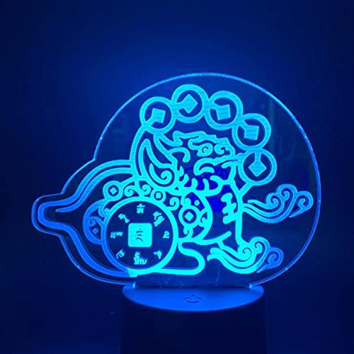3D iluzja światło nocne stół fantastyczna bestia stół biurko dekoracja do dekoracji domu zabawki prezenty dla dzieci kolorowe zmiany kolorów, z interfejsem USB