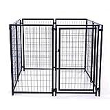 ALEKO DK5X5X4SQ Pet System DIY Box Kennel Dog Kennel Playpen Chicken Coop Hen House 5 x 5 x 4 Feet,Black