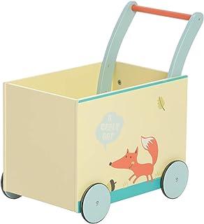 Bebé andador de madera por 1-3 Años - Zorro blanco,
