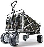 ENDLESS BASE キャリーワゴン 大容量120L 折り畳み式 大型タイヤ カバー付き * Raxus OFF ROAD * 自立式 カモフラ 迷彩 45600000 15 (68883)