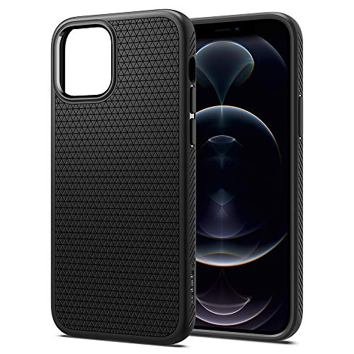 Spigen Funda Liquid Air Compatible con iPhone 12 y Compatible con iPhone 12 Pro - Negro