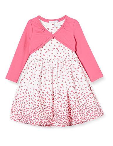 Happy Girls 901906 B sukienki dziewczęce, niebieskie (różowe), 104 (rozmiar: 4), opakowanie 2 szt.