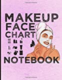Makeup Face Chart Notebook: A Professional Makeup Face Charts Notebook. Blank Makeup Practice Workbook With Face Charts For Makeup Artists. Makeup ... For Beginners. Face Mapping Chart Gifts