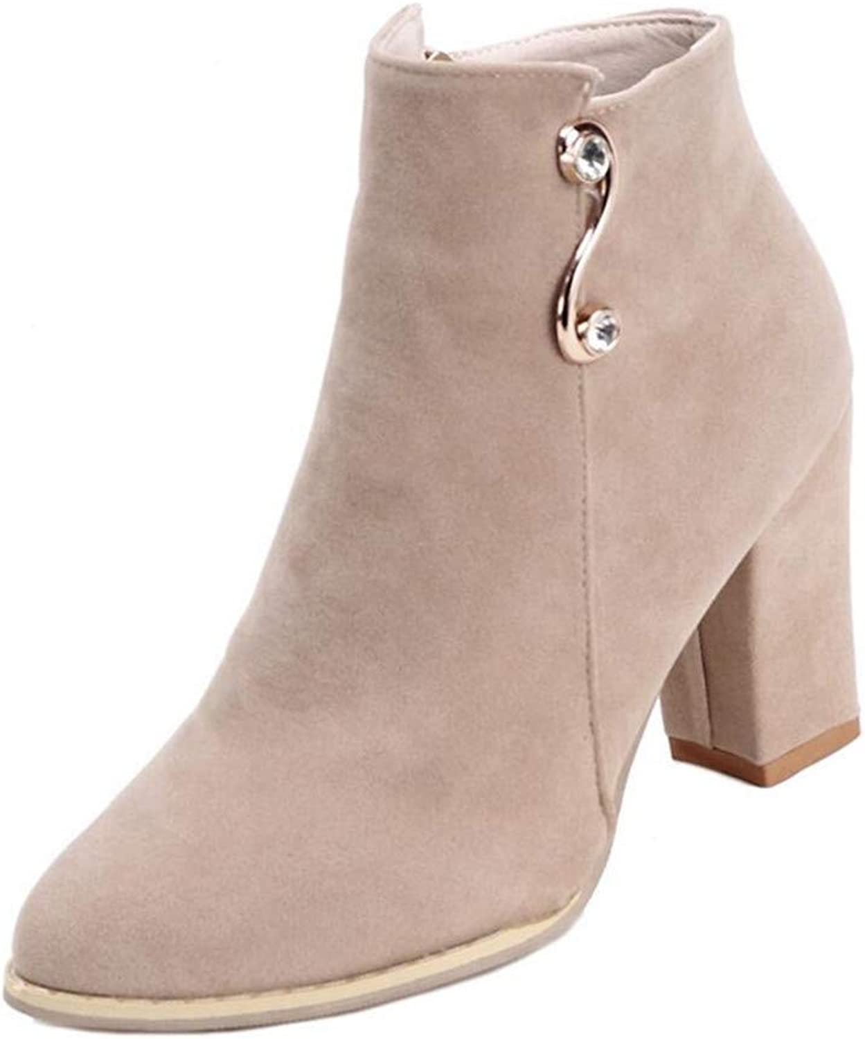 MODEOK High Heel Booties for Women