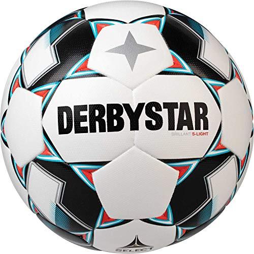 Derbystar 1027400162 Brillant S-Light DB Ballon de Football pour Enfant Blanc/Bleu/Noir Taille 4