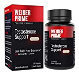 Weider Prime Testosterone Supplement for Men, Healthy Testosterone Support to Help Boost Strength and Build Lean Muscle, 120 Capsules