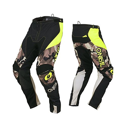 O'Neal Herren Motocross Hose Mayhem Lite Hexx Ambush, Ambush Neon Gelb, 32, 030M