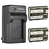 Kastar 2 Pack BP-511 BP-511A Battery and AC Wall Charger Compatible with Canon ZR60 ZR65MC ZR70MC ZR80 ZR85 ZR85MC ZR90 ZR90MC PV130 EOS Rebel DS6041 Cameras, Canon Battery Grip BG-E2N