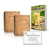tom&pat® Original Aleppo Seife (2 x 200g) + E-Book: Naturseife DIY (20 Rezepte), mit 20/80%...