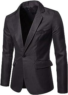 YOUTHUP Mens Blazer Business Jacket Morden Stylish Suit Jackets Prom Coat, XL, Grey