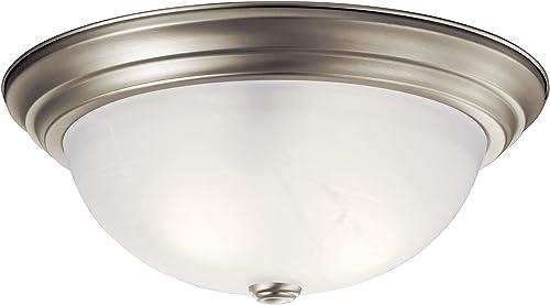 high quality Kichler 8110NI online Flush Mount wholesale 3-Light, Brushed Nickel sale
