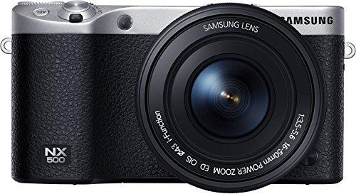 Samsung NX500 Systemkamera (28 Megapixel, 7,6 cm (3 Zoll) Touchscreen Display, Ultra HD Video, WiFi, Bluetooth, GPS) inkl. 16-50 mm Power Zoom Objektiv schwarz