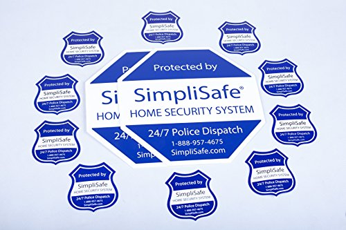 SimpliSafe Home Security System Sign Combo Set Yard Sign x2 Window Decals x10